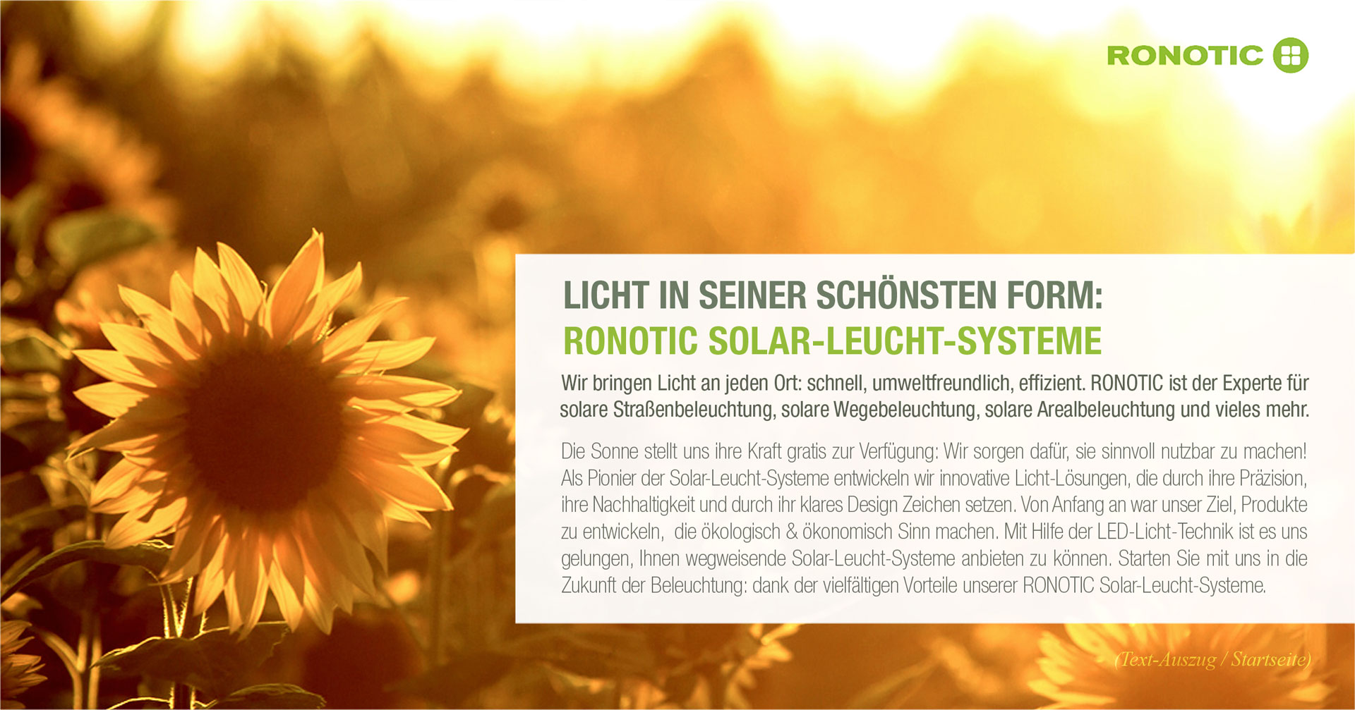 RONOTIC SOLAR-SYSTEME